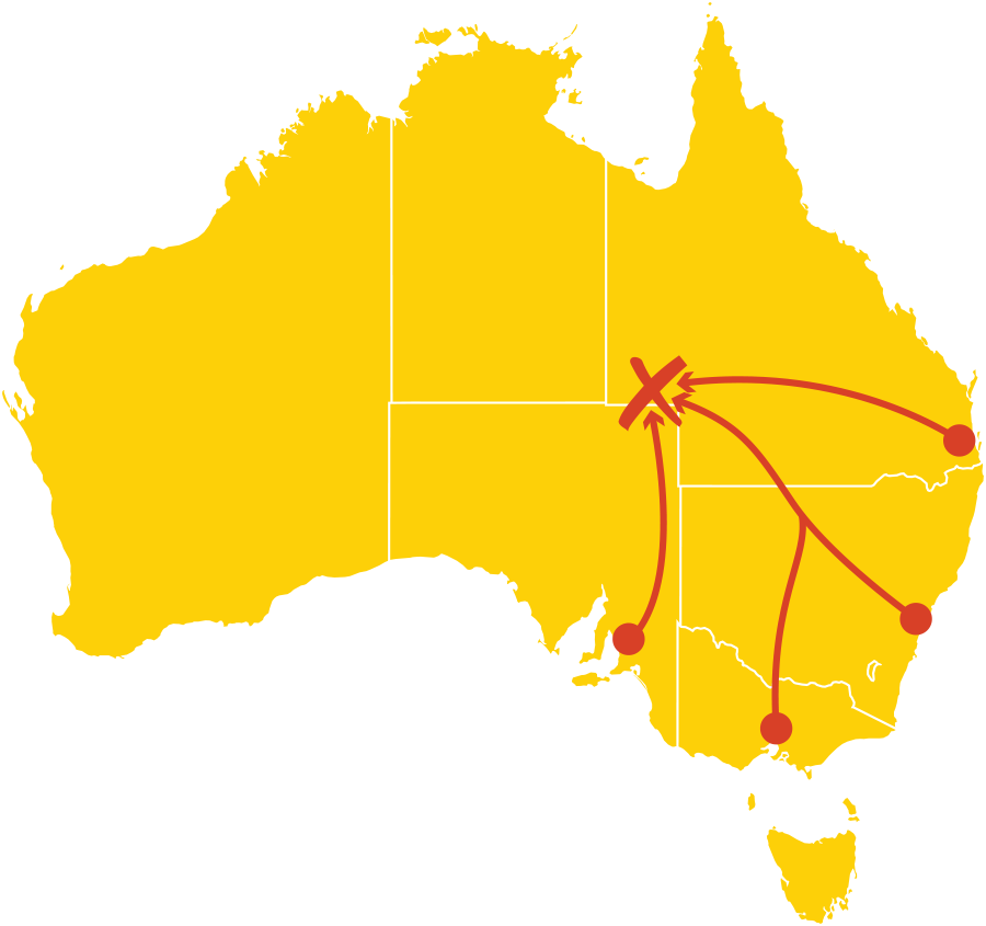 Birdsville Races Roadies Journey Map