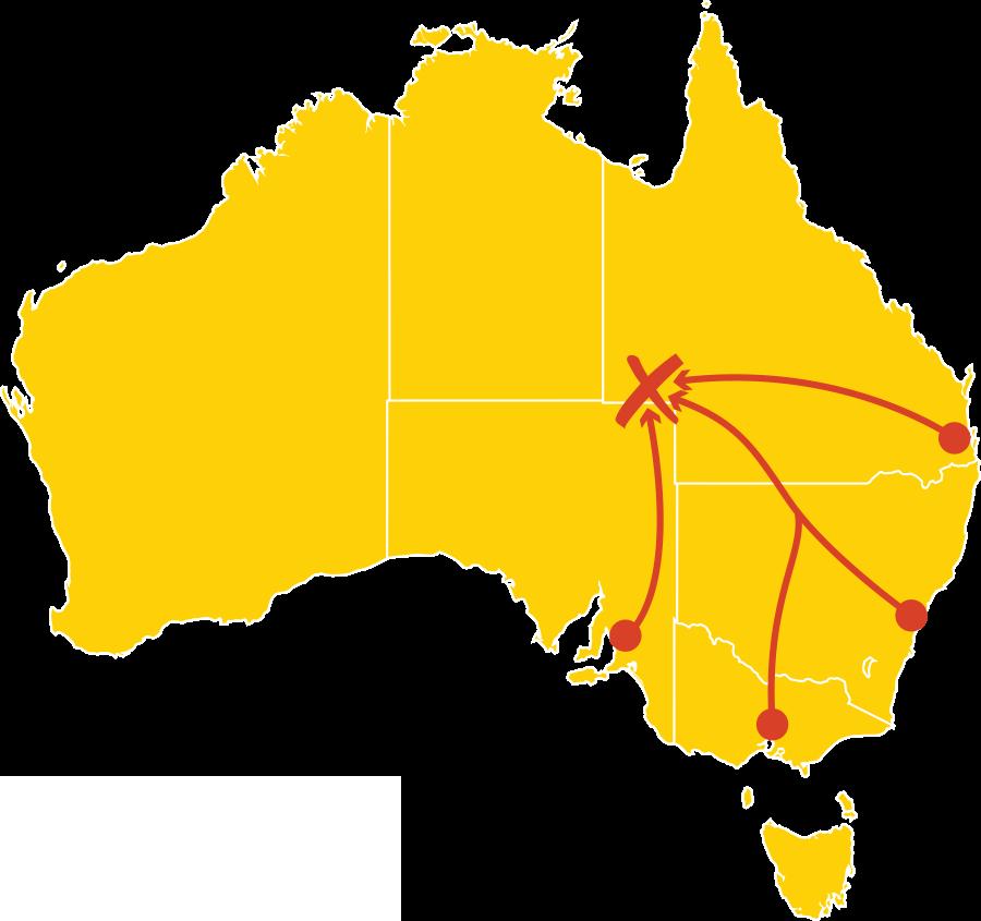 Birdsville Races Roadies Journey Map